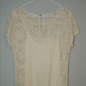 Anthropologie lace maxi dress